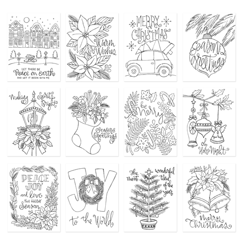 Simon Says Stamp Suzy's CLASSICAL CHRISTMAS Watercolor Prints szwcc17 Preview Image