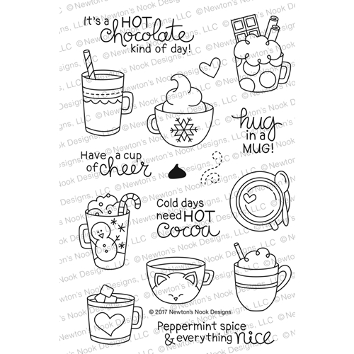Newton's Nook Designs CUP OF COCOA Clear Stamp Set NN1711S03 Preview Image