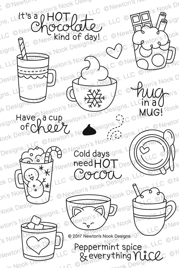Newton's Nook Designs CUP OF COCOA Clear Stamp Set NN1711S03 zoom image