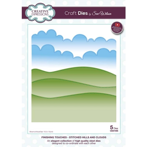 Creative Expressions STITCHED HILLS AND CLOUDS Die CED1495 Preview Image