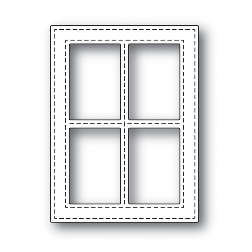 Simon Says Stamp STITCHED WINDOW FRAME Wafer Dies s499 Preview Image