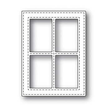 Simon Says Stamp STITCHED WINDOW FRAME Wafer Dies s499