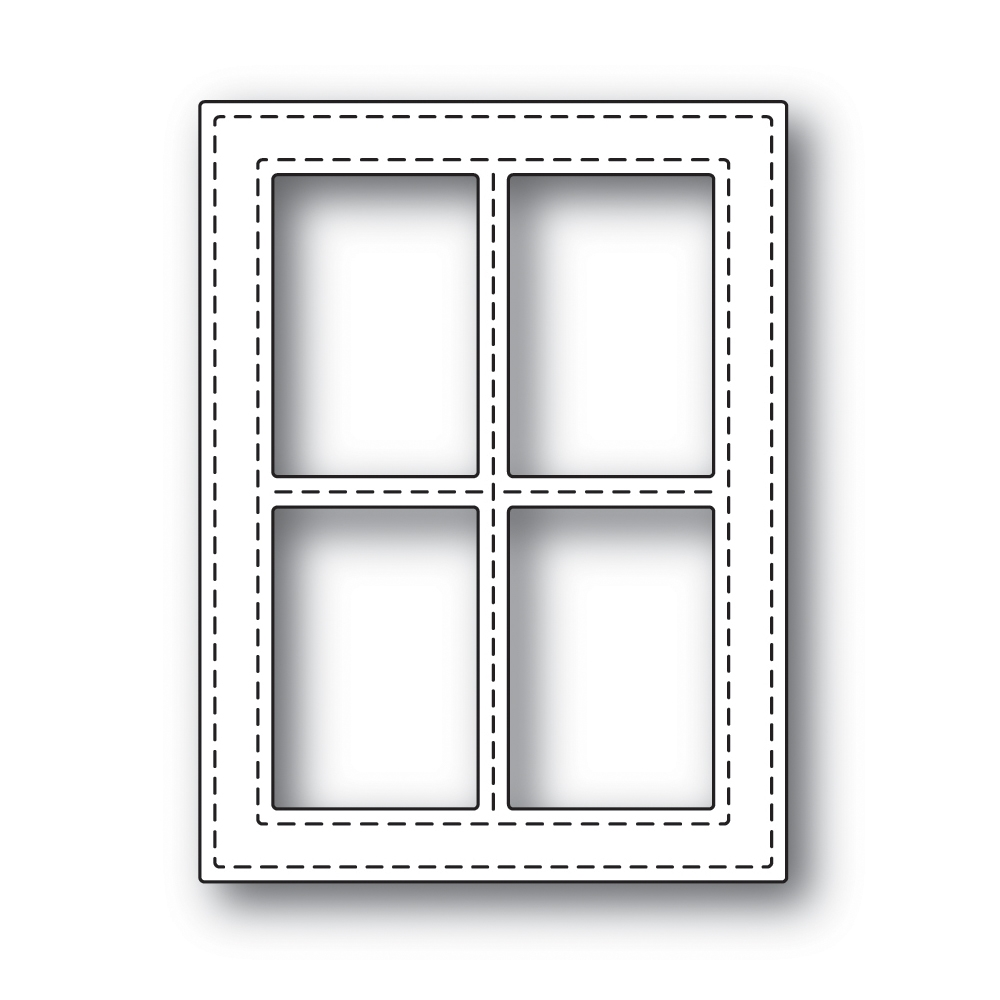 Simon Says Stamp STITCHED WINDOW FRAME Wafer Dies s499 zoom image