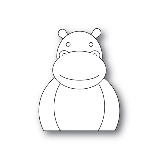 Simon Says Stamp PICTURE BOOK HIPPO Wafer Dies s518 * Preview Image