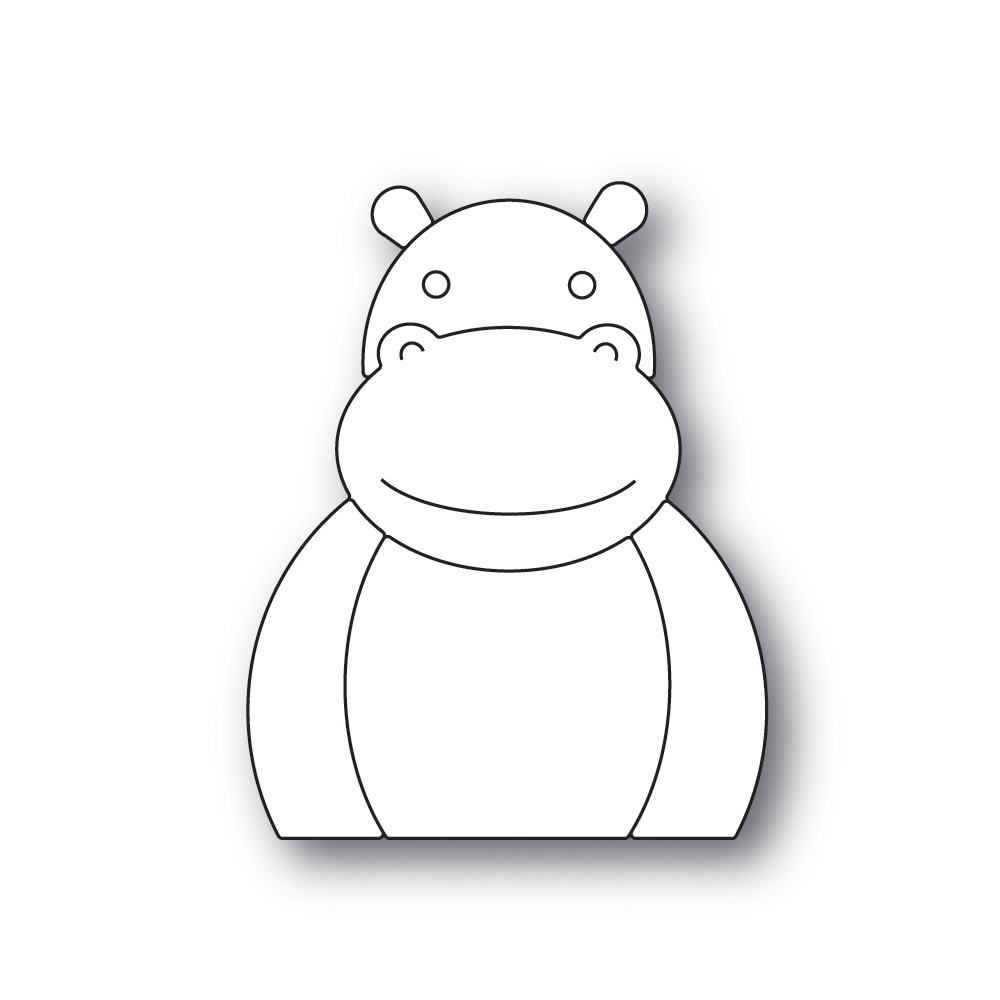 Simon Says Stamp PICTURE BOOK HIPPO Wafer Dies s518 zoom image