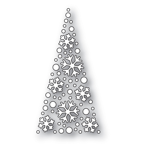 Simon Says Stamp SNOWFLAKE TREE Wafer Dies s529 Preview Image