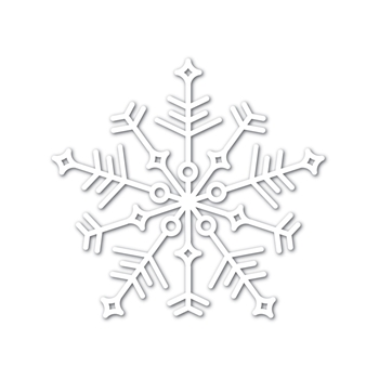 Simon Says Stamp Big JOY SNOWFLAKE Wafer Dies sssd111747