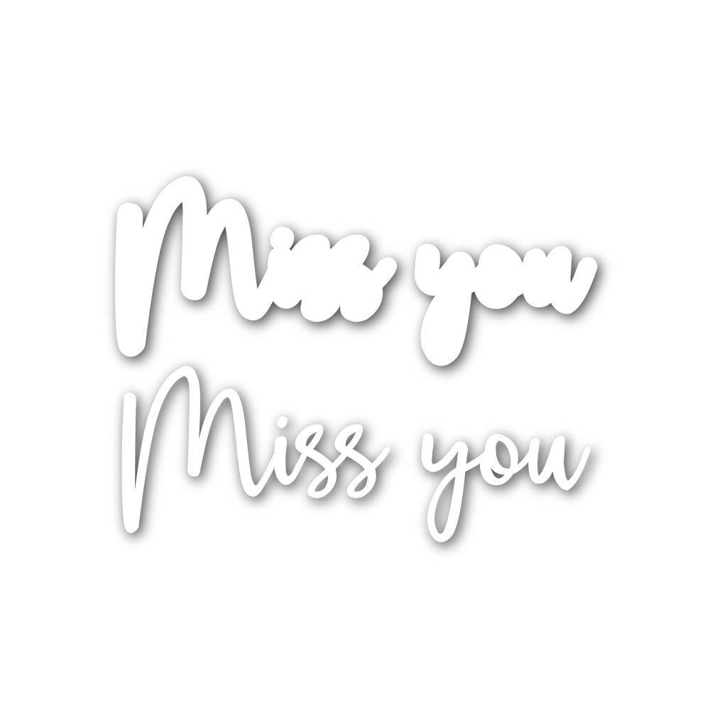 Simon Says Stamp SCRIPT MISS YOU Shadow Wafer Dies sssd111751 zoom image