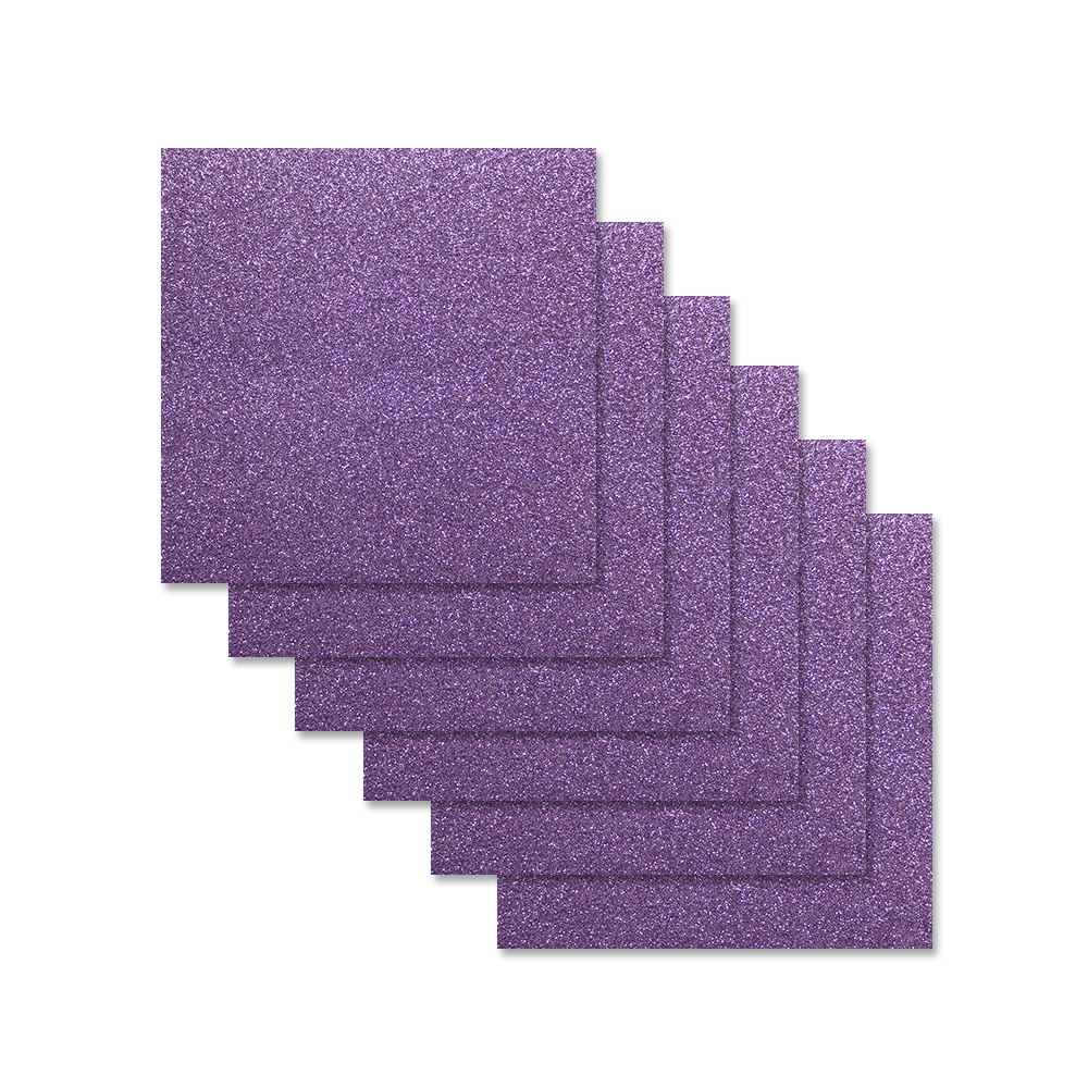 Simon Says Stamp Cardstock AMETHYST GLITTER 6x6 sss308 zoom image