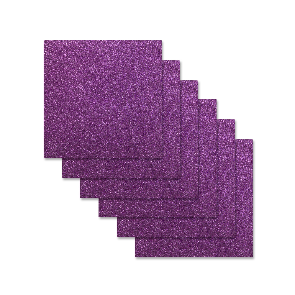 Simon Says Stamp Cardstock PLUM GLITTER 6x6 sss309 zoom image