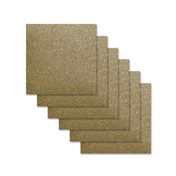 Simon Says Stamp Cardstock GOLD GLITTER 6x6 sss317