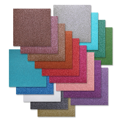 Simon's Exclusive Glitter Paper 6x6 Assortment Pack