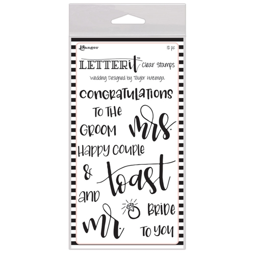 Ranger WEDDING Letter It Stamp Set lec59332 Preview Image