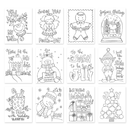Simon Says Stamp Suzy's TIS THE SEASON Watercolor Prints szwts17 Preview Image
