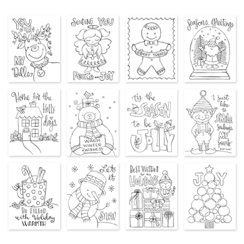Simon Says Stamp Suzy's TIS THE SEASON Watercolor Prints szwts17