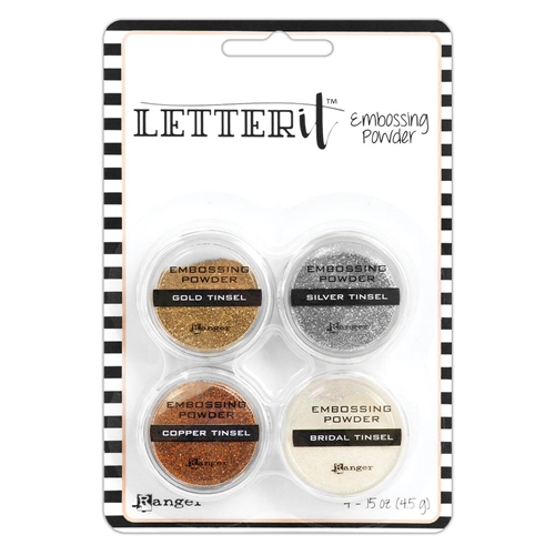 Ranger TINSELS EMBOSSING POWDER SET Letter It lep59578 Preview Image