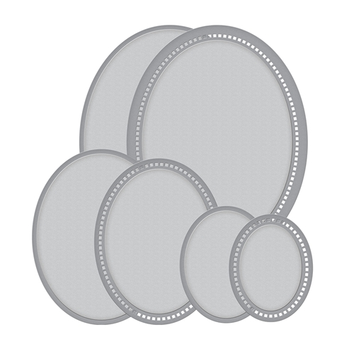 S5-332 Spellbinders HEMSTITCH OVALS Etched Dies by Becca Feeken Preview Image