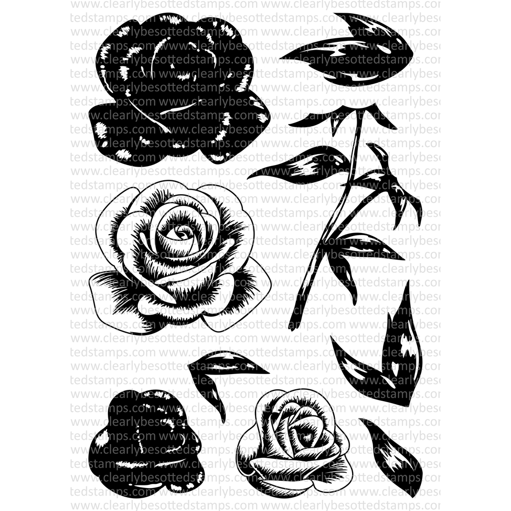 Clearly Besotted FEELING ROSY Clear Stamp Set zoom image