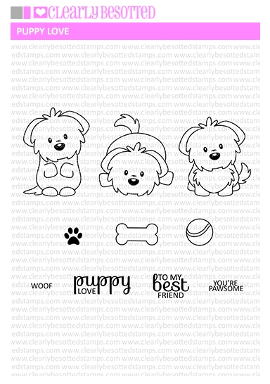Clearly Besotted PUPPY LOVE Clear Stamp Set  zoom image