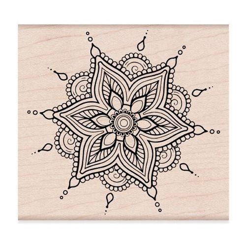 Hero Arts Rubber Stamps HENNA FLOWER PATTERN K6268 Preview Image