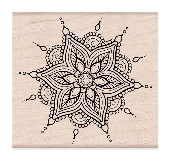 Hero Arts Rubber Stamps HENNA FLOWER PATTERN K6268 zoom image