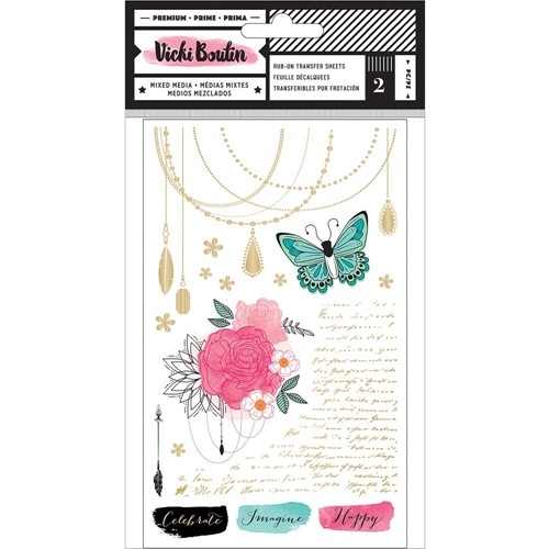 American Crafts Vicki Boutin RUB ONS All the Good Things Mixed Media 343899 Preview Image