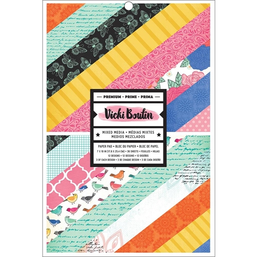 American Crafts Vicki Boutin 7x10 Inch Single Sided ALL THE GOOD THINGS Paper Pad 343887* Preview Image