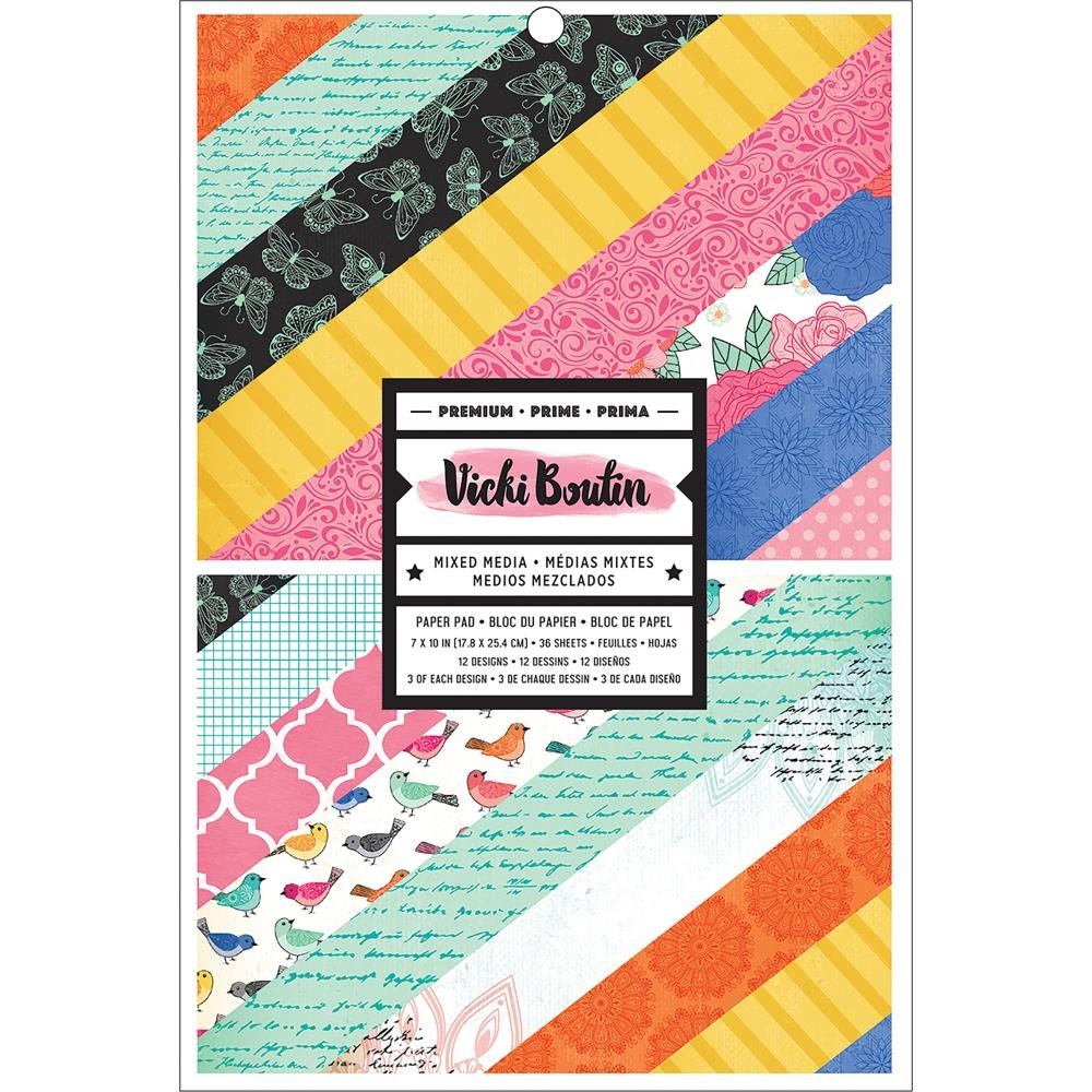 American Crafts Vicki Boutin 7x10 Inch Single Sided ALL THE GOOD THINGS Paper Pad 343887* zoom image