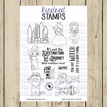 Kindred Stamps OFF TO SEE THE WIZARD Clear Stamp Set ks7795