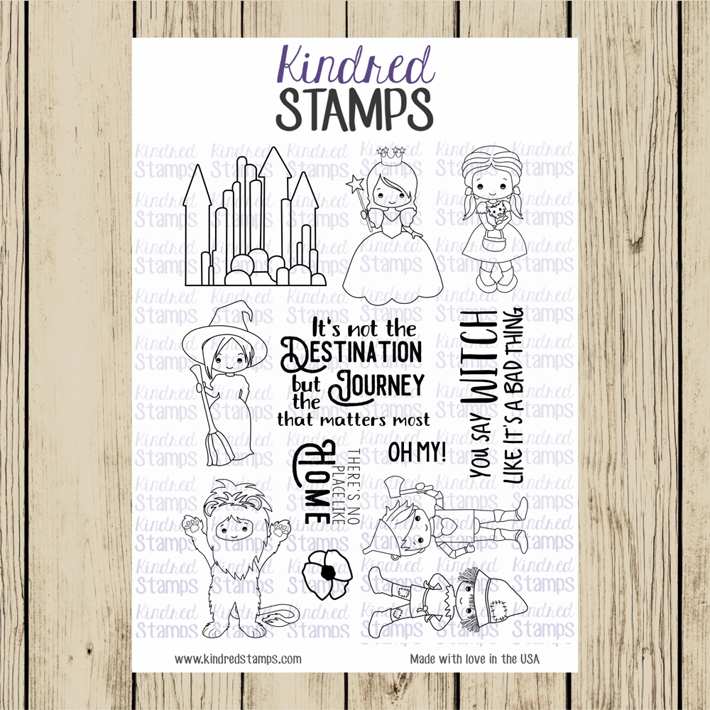 Kindred Stamps OFF TO SEE THE WIZARD Clear Stamp Set ks7795 zoom image