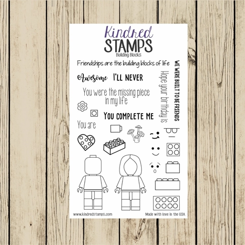Kindred Stamps BUILDING BLOCKS Clear Stamp Set ks8035 Preview Image