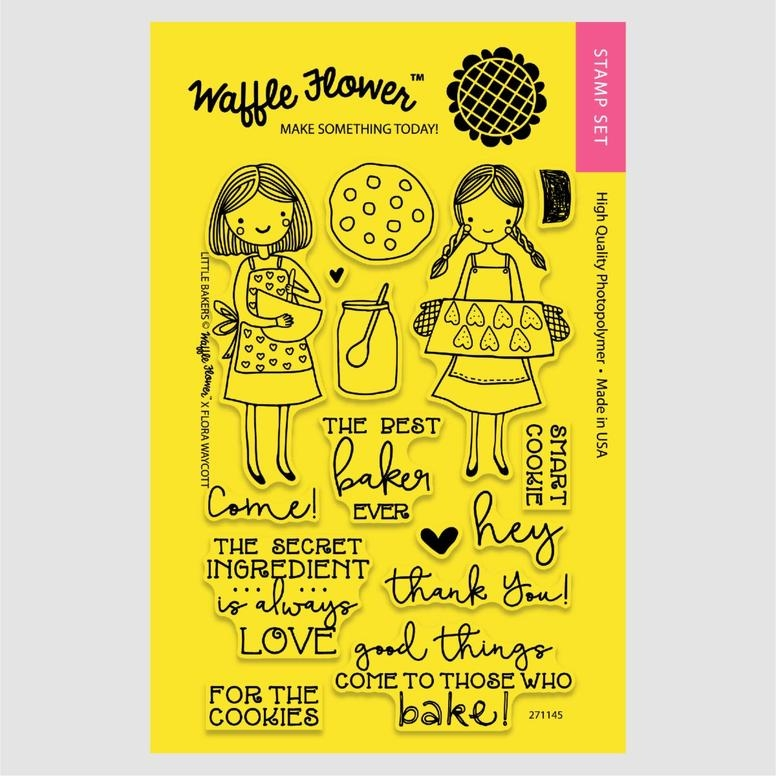 Waffle Flower LITTLE BAKERS Clear Stamp Set 271145* zoom image