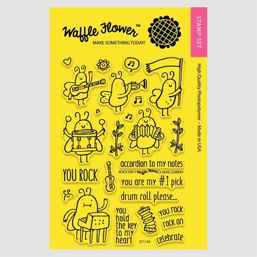 Waffle Flower ROCK ON Clear Stamp Set 271143* Preview Image