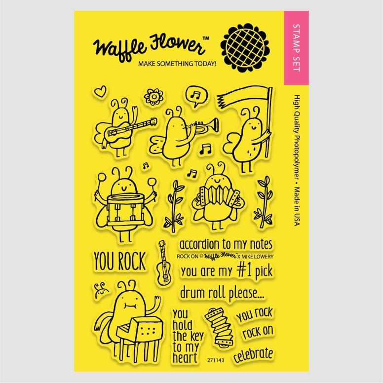 Waffle Flower ROCK ON Clear Stamp Set 271143* zoom image