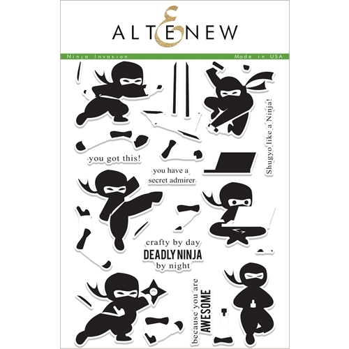 Altenew NINJA INVASION Clear Stamp Set ALT1999 Preview Image