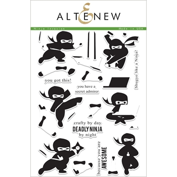 Altenew NINJA INVASION Clear Stamp Set ALT1999