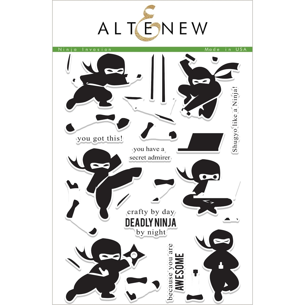 Altenew NINJA INVASION Clear Stamp Set ALT1999 zoom image