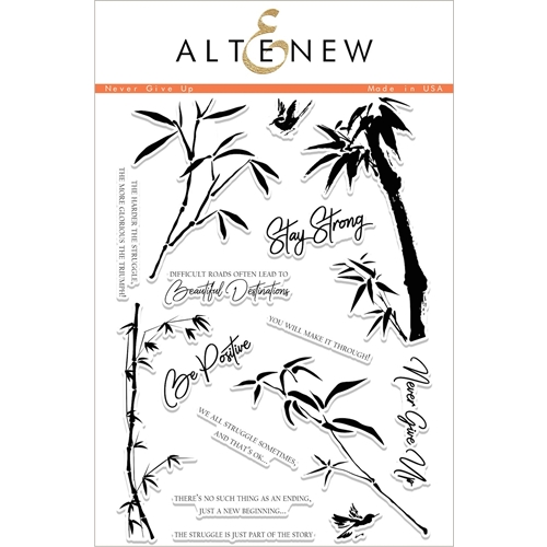 Altenew NEVER GIVE UP Clear Stamp Set ALT1997 Preview Image