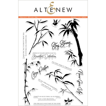 Altenew NEVER GIVE UP Clear Stamp Set ALT1997