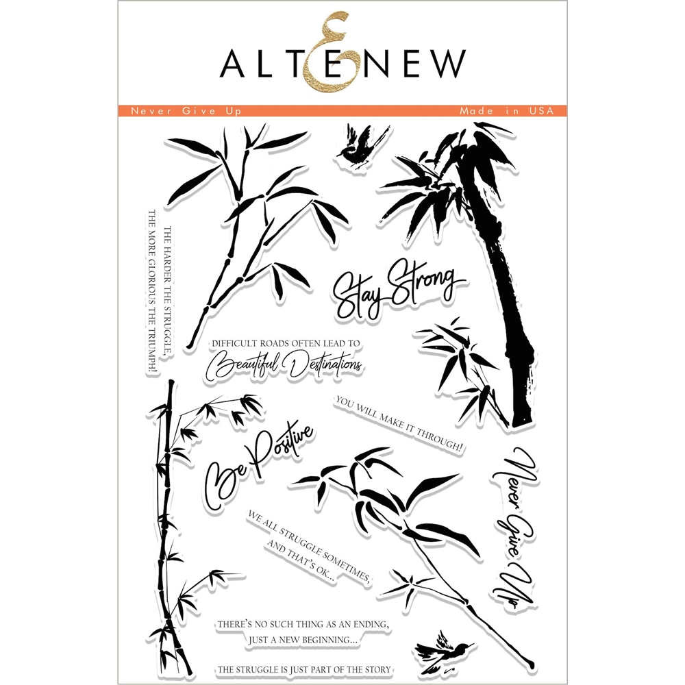 Altenew NEVER GIVE UP Clear Stamp Set ALT1997 zoom image