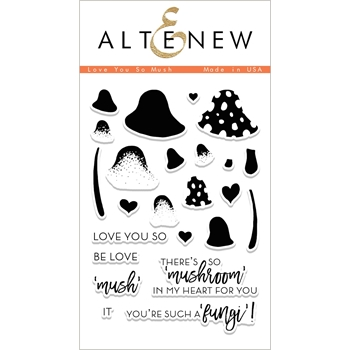 Altenew I LOVE YOU SO MUSH Clear Stamp Set ALT1995