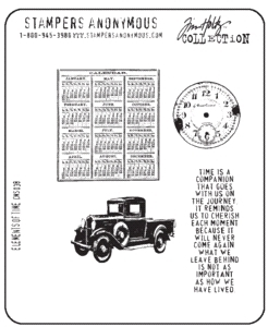 Tim Holtz Cling Rubber Stamps ELEMENTS OF TIME Stampers Anonymous CMS038