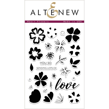 Altenew HEART FLOWERS Clear Stamp Set ALT1993