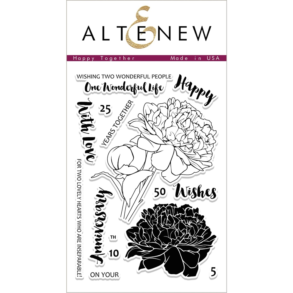 Altenew HAPPY TOGETHER Clear Stamp Set ALT1991 zoom image