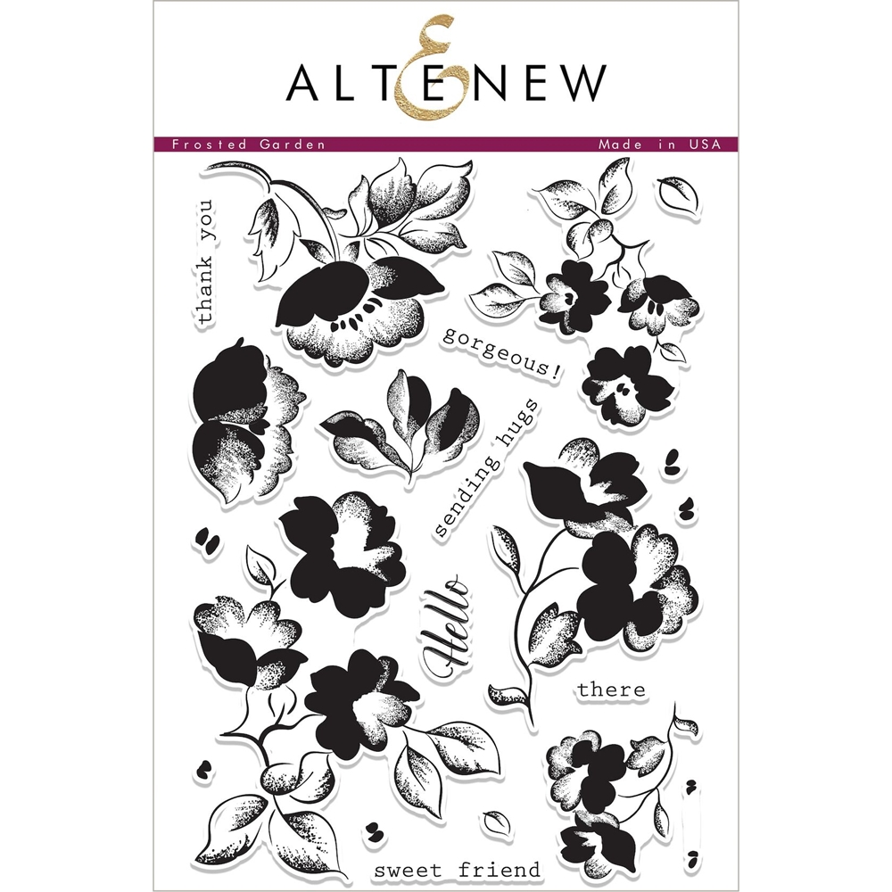Altenew FROSTED GARDEN Clear Stamp Set ALT1989 zoom image