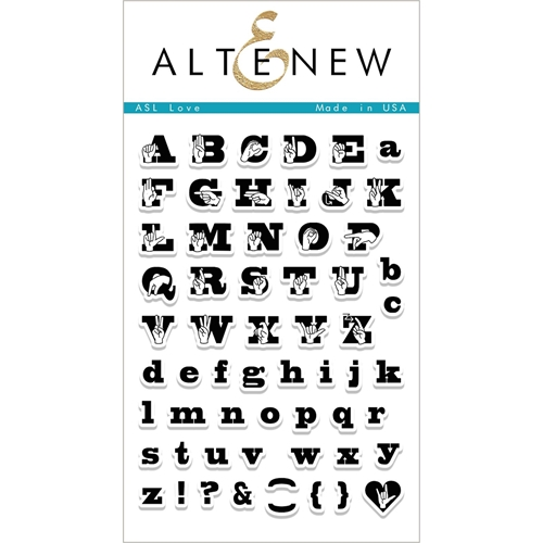 Altenew ASL LOVE Clear Stamp Set ALT1983 Preview Image