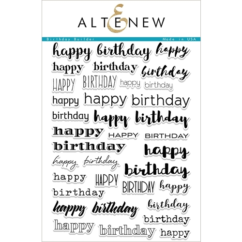 Altenew BIRTHDAY BUILDER Clear Stamp Set ALT1985 Preview Image