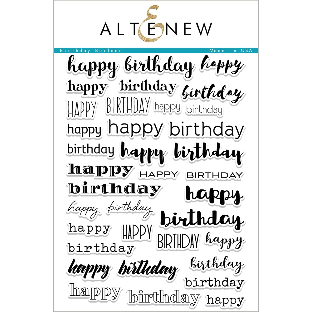 Altenew BIRTHDAY BUILDER Clear Stamp Set ALT1985 zoom image
