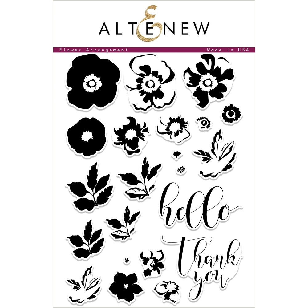 Altenew FLOWER ARRANGEMENT Clear Stamp Set ALT1785  zoom image