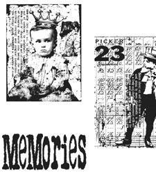 Tim Holtz Cling Rubber Stamps THE BOYS Stampers Anonymous CMS019